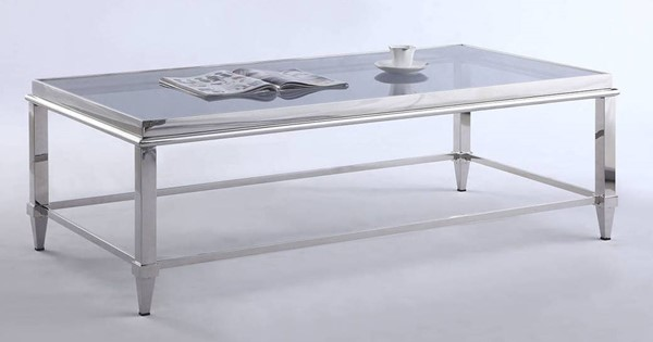 Chintaly Imports Grey Rectangle Coffee Table CHF-2035-RCT-CT