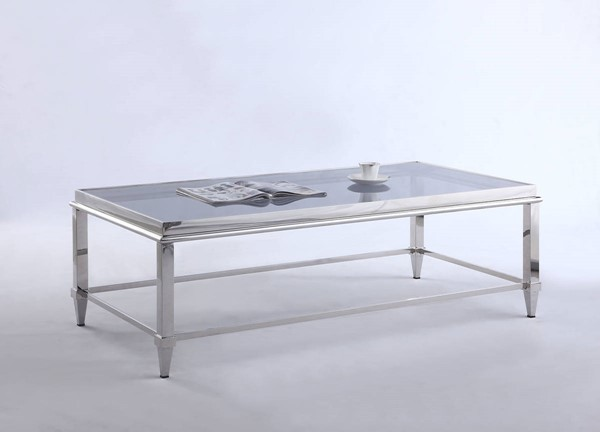Chintaly Imports Grey Rectangular Coffee Table CHF-2035-RCT-CT