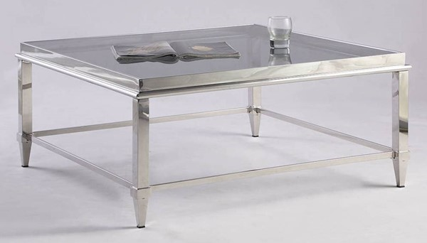 Chintaly Imports Grey Square Coffee Table CHF-2035-SQ-CT