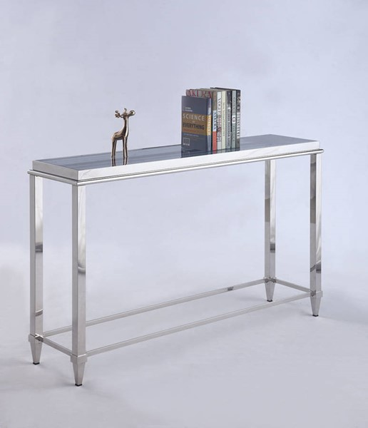 Chintaly Imports Grey Glass Sofa Table CHF-2035-ST