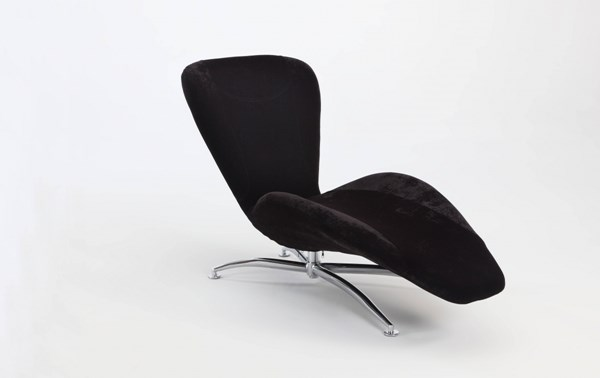 Modern Faux Velvet Reclining Chaise Lounge Chairs CHF-2415-LNG-VAR