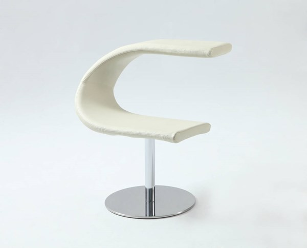 PU White Funky Chair C Bucket Left Face Seat CHF-2619-ACC-WHT-L-SEAT