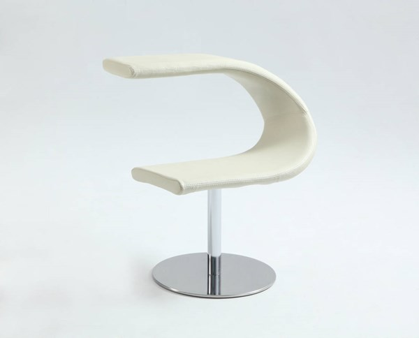 PU White Funky Chair Reversed C Bucket Right Face Seat CHF-2619-ACC-WHT-R-SEAT