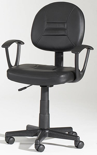 Chintaly Imports Black Swivel Office Chair CHF-3379-CCH