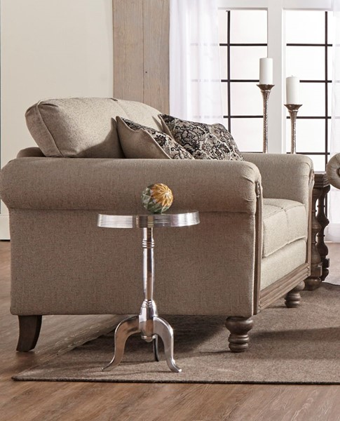 Chintaly Imports Antique Ash Beige Arm Love Seat CHF-3400-LOVE-BGE