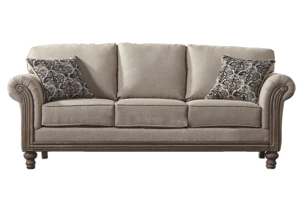 Chintaly Imports Antique Ash Beige Arm Sofa CHF-3400-SOFA-BGE
