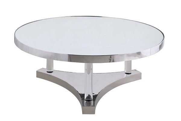 Chintaly Imports Polished Mirror Cocktail Table CHF-4034-CT