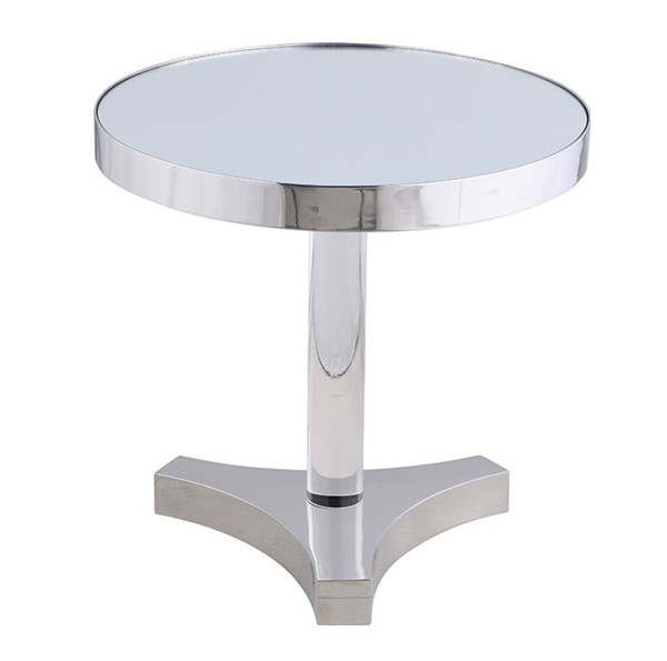 Chintaly Imports Polished Mirror Lamp Table CHF-4034-LT