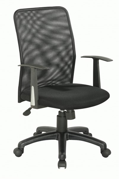 Black Upholstered Back Pneumatic Office Chair CHF-4219-CCH