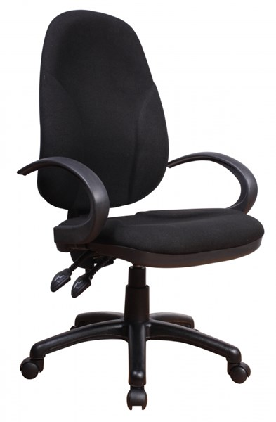 Chintaly Imports Black Adjustable Office Chair CHF-4916-CCH-BLK