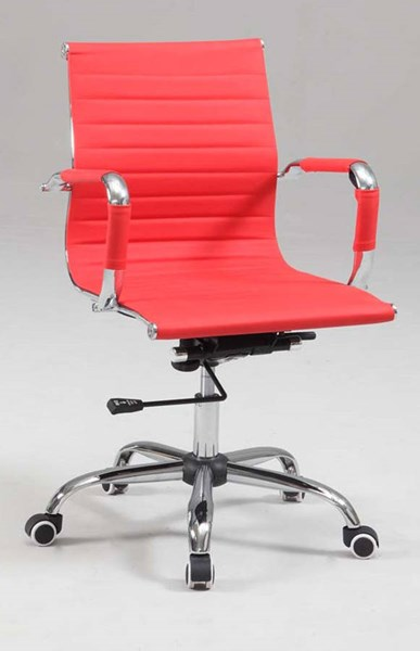 Chintaly Imports Red Adjustable Office Chair CHF-4918-CCH-RED