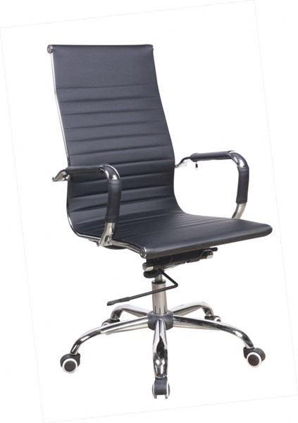 Modern Black PU Upholstered Back Adjustable Office Chair CHF-4919-CCH-BLK