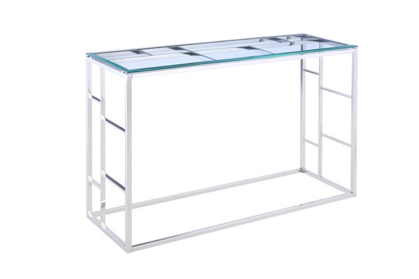Chintaly Imports Clear Glass Top Sofa Table CHF-5073-ST