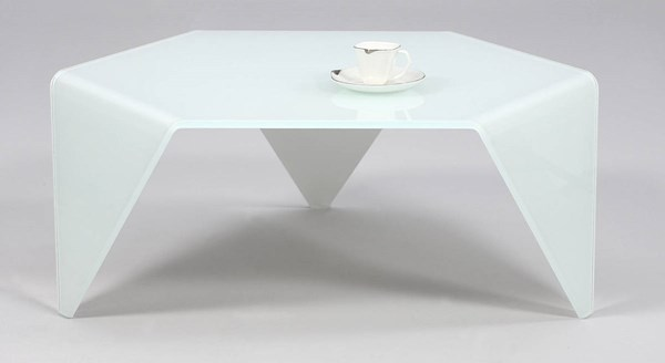 Chintaly Imports White Cocktail Table CHF-6003-CT