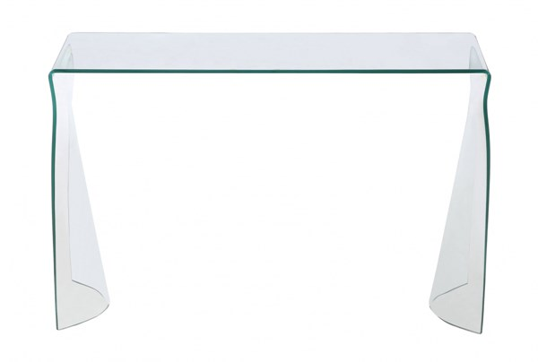 Bent Modern Clear Glass Sofa Table CHF-6004-ST