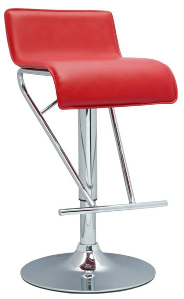 Modern Red PVC Pneumatic Gas Lift Adjustable Height Swivel Stool CHF-6122-AS-RED