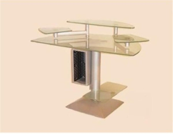 Chintaly Imports Frosted Computer Desk CHF-6908-DSK-TBA