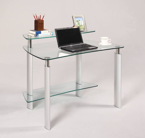 Tempered Clear Glass Rectangle Computer Desk Top CHF-6912-DSK-T
