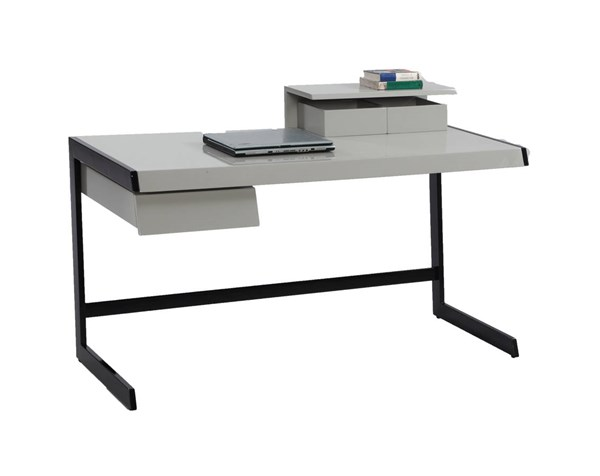 Gloss Gray Computer Desk Top w/2 Storage Boxes CHF-6924-DSK-T