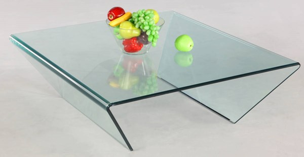 Chintaly Imports Square Glass Cocktail Table CHF-72102-SQ-CT