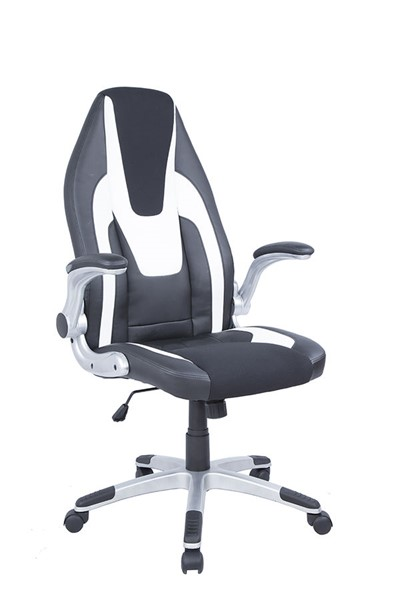 Chintaly Imports Silver Black White Computer Office Chair CHF-7214-CCH-2TONE