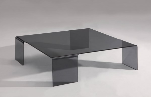 Tempered Glass Square Bent Cocktail Table W/Legs CHF-7260-CT