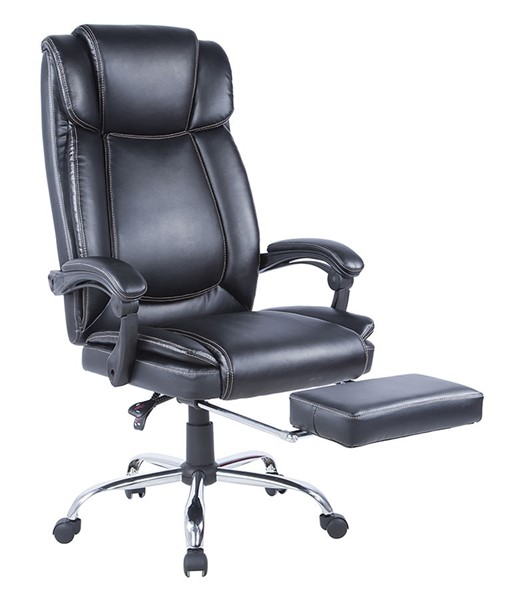 Chintaly Imports Chrome Black Computer Chair CHF-7288-CCH-BLK