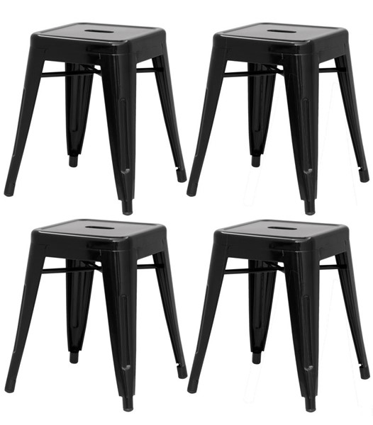 4 Chintaly Imports Alfresco Black Side Chairs CHF-8018-SC-BLK