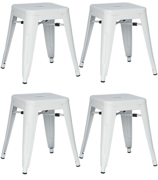 4 Chintaly Imports Alfresco White Side Chairs CHF-8018-SC-WHT