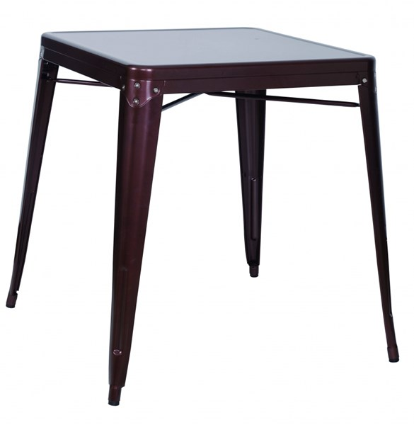 Alfresco Red Galvanized Steel Dining Table CHF-8029-DT-COP