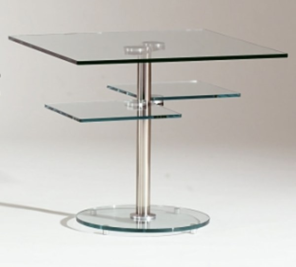 Glass Square Lamp Table CHF-8130-LT-T