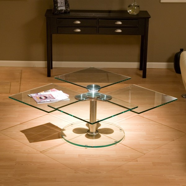 4 square swivel cocktail table