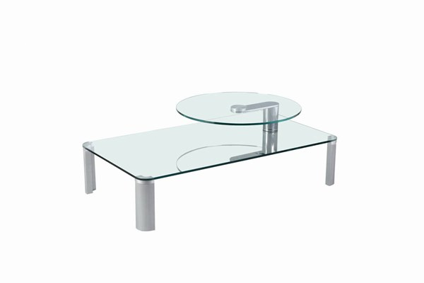 Silver Metal Glass Rectangle Cocktail Table CHF-8158-CT-TB