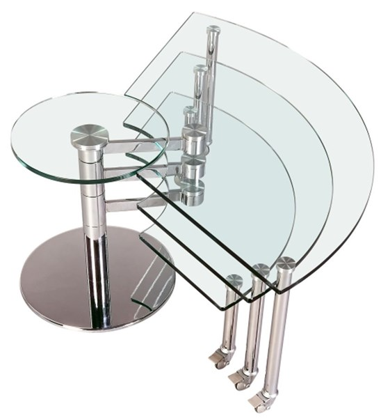 Chrome Metal Motion Cocktail Table Legs W/Casteres CHF-8160-CT-B