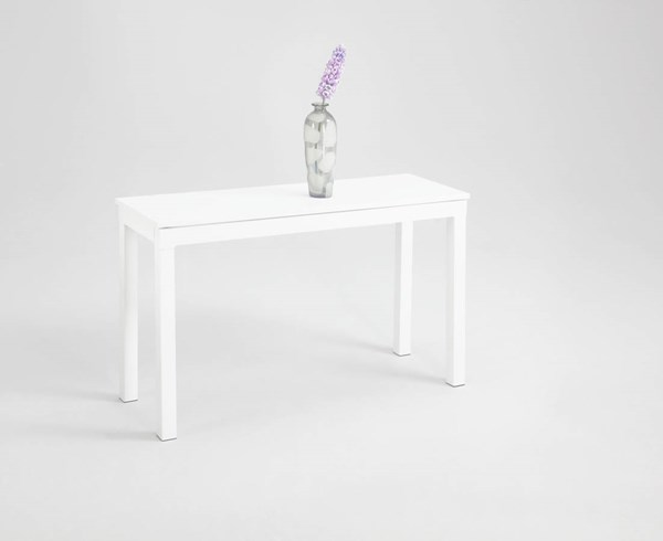 Contemporary Gloss White Metal Rectangle Sofa Table CHF-8750-ST-TB