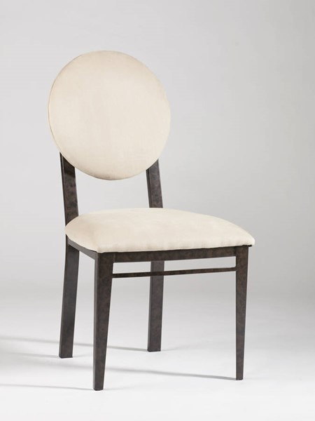 Round Upholstered Back 2 Side Chairs Amber-Sc CHF-AMBER-SC