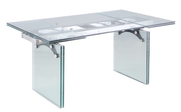 Chintaly Imports Annie Clear Dining Table CHF-ANNIE-DT
