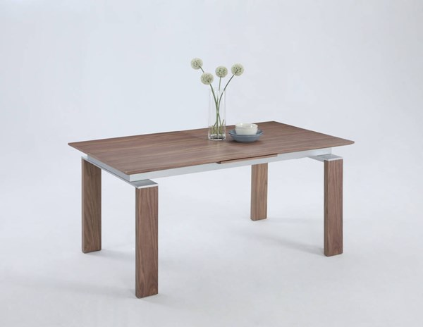 Brittany Dining Classic Walnut Wood Pop Up Extension Table CHF-BRITTANY-DT