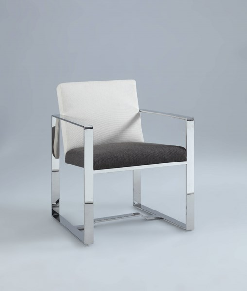 Candice Contemporary Grey Brown Fabric Oversized Arm Chair CHF-CANDICE-AC-BRW