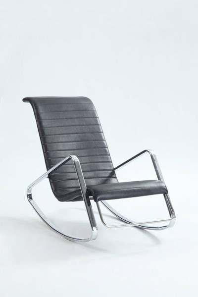 Chintaly Imports Carrera Black Chair CHF-CARRERA-LNG-BLK