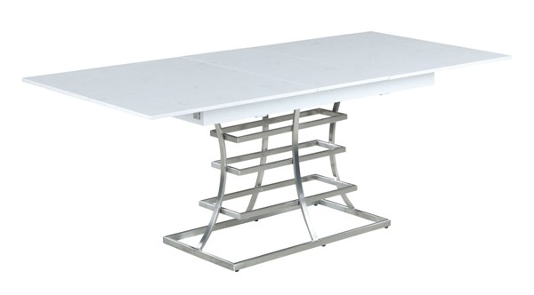 Chintaly Imports Cassidy Gloss White Dining Table CHF-CASSIDY-DT