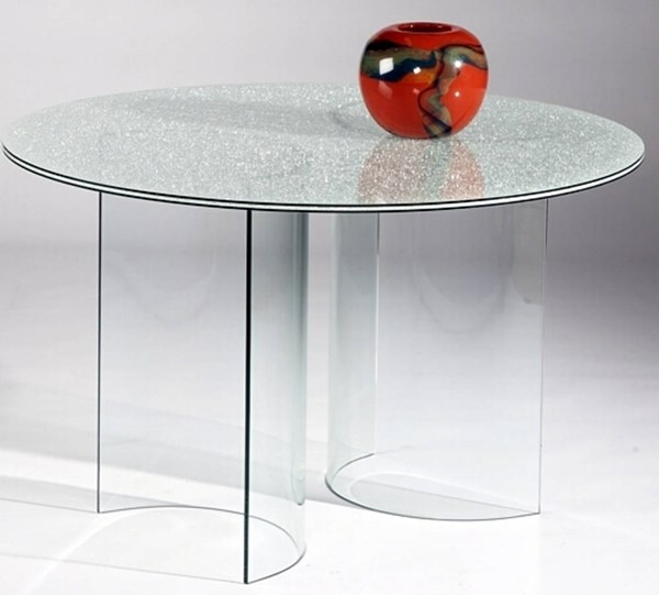 C Base Glass Round Solid Top Sandwich Table CHF-CBASE-DT-SW48-TB