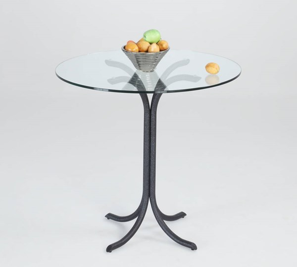 Cece Texture Black Glass Counter Height Table CHF-CECE-CNT-TB-BLK