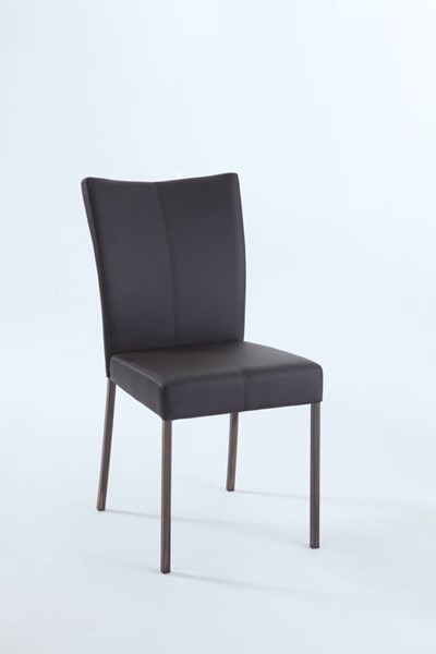 4 Charlotte PU Brown Plush Middle-Stitching Upholstered Side Chairs CHF-CHARLOTTE-SC-BRW