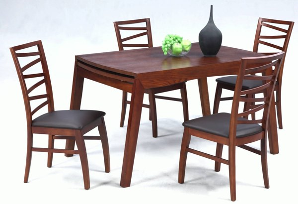 Cheri Dark Oak Solid Dining Table W/Extension CHF-CHERI-DT
