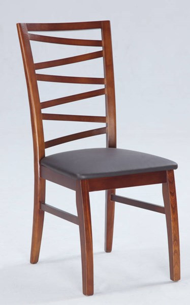 2 Cheri Brown PVC Solid Oak Completely Set Up Side Chairs CHF-CHERI-SC