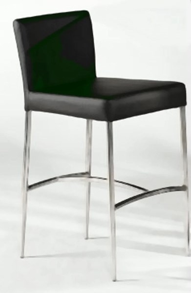 Contemporary Stainless Steel PU Metal Bar Height Stool CHF-CILLA-BS