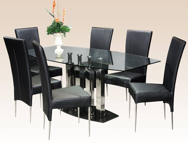 Cilla Black Metal Stainless Steel Dining Table Base CHF-CILLA-DT-B