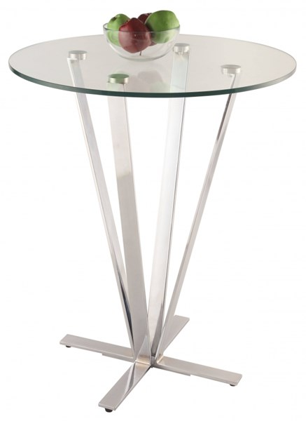 Chintaly Imports Cortland Chrome High Bar Table Base CHF-CORTLAND-CNT-B