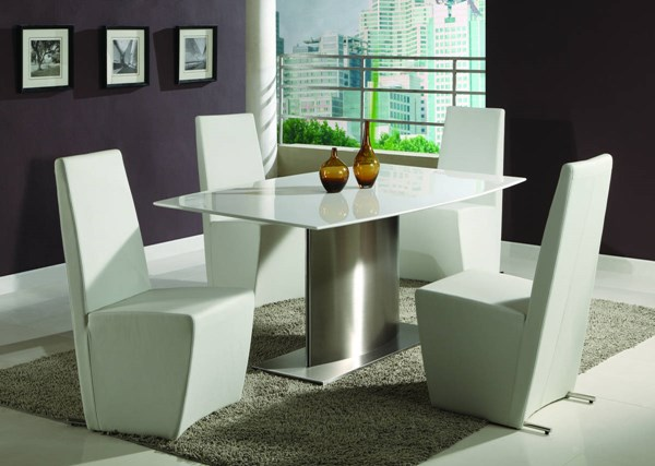 Cynthia PU Stainless Steel Dining Room Sets CHF-CYNTHIA-DT-S